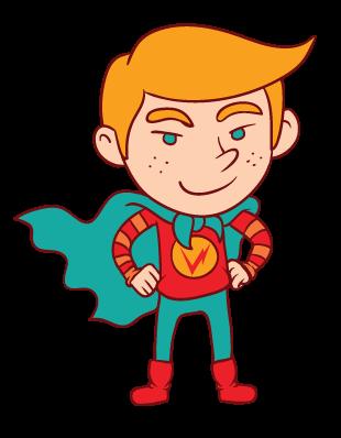 Héro de dessin animé